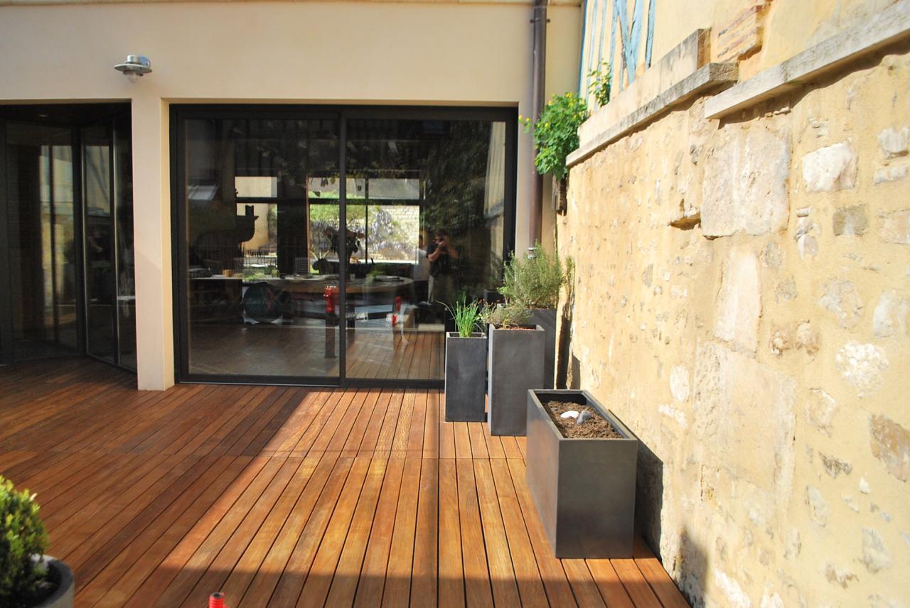 Terrasse bois à Auxerre