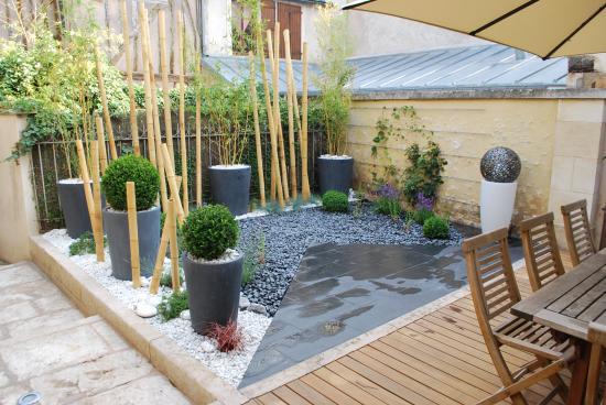 Jardin patio à Auxerre