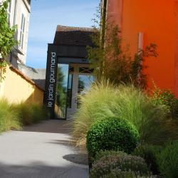"""Jardin du restaurant """"Le Jardin Gourmand"""" à Auxerre"""
