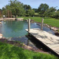 Ponton et bassin de baignade