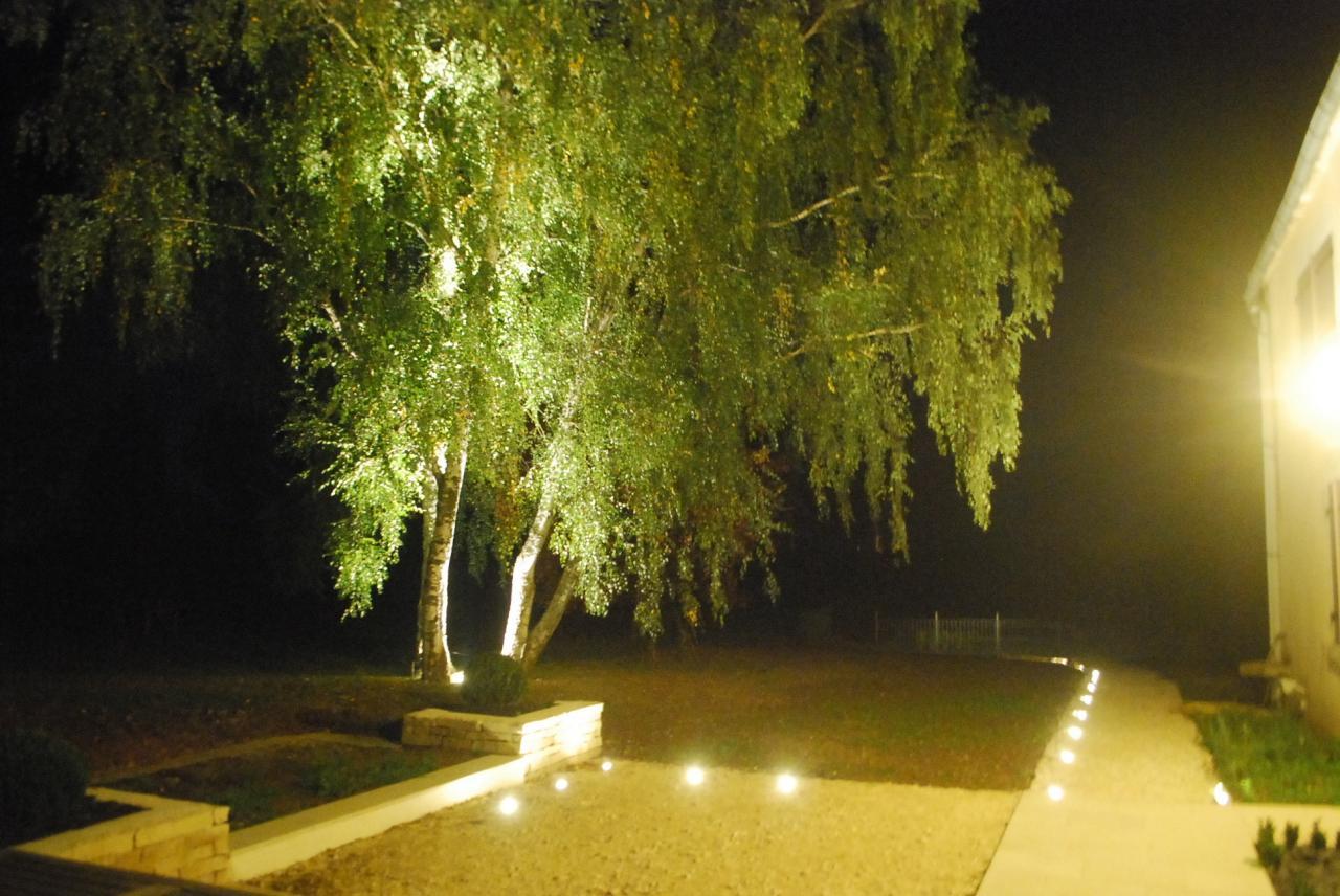 Eclairage terrasse, jardin et circulation