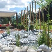 jeux d'eau et fontaine dynamique, décoration et aménagement de jardin