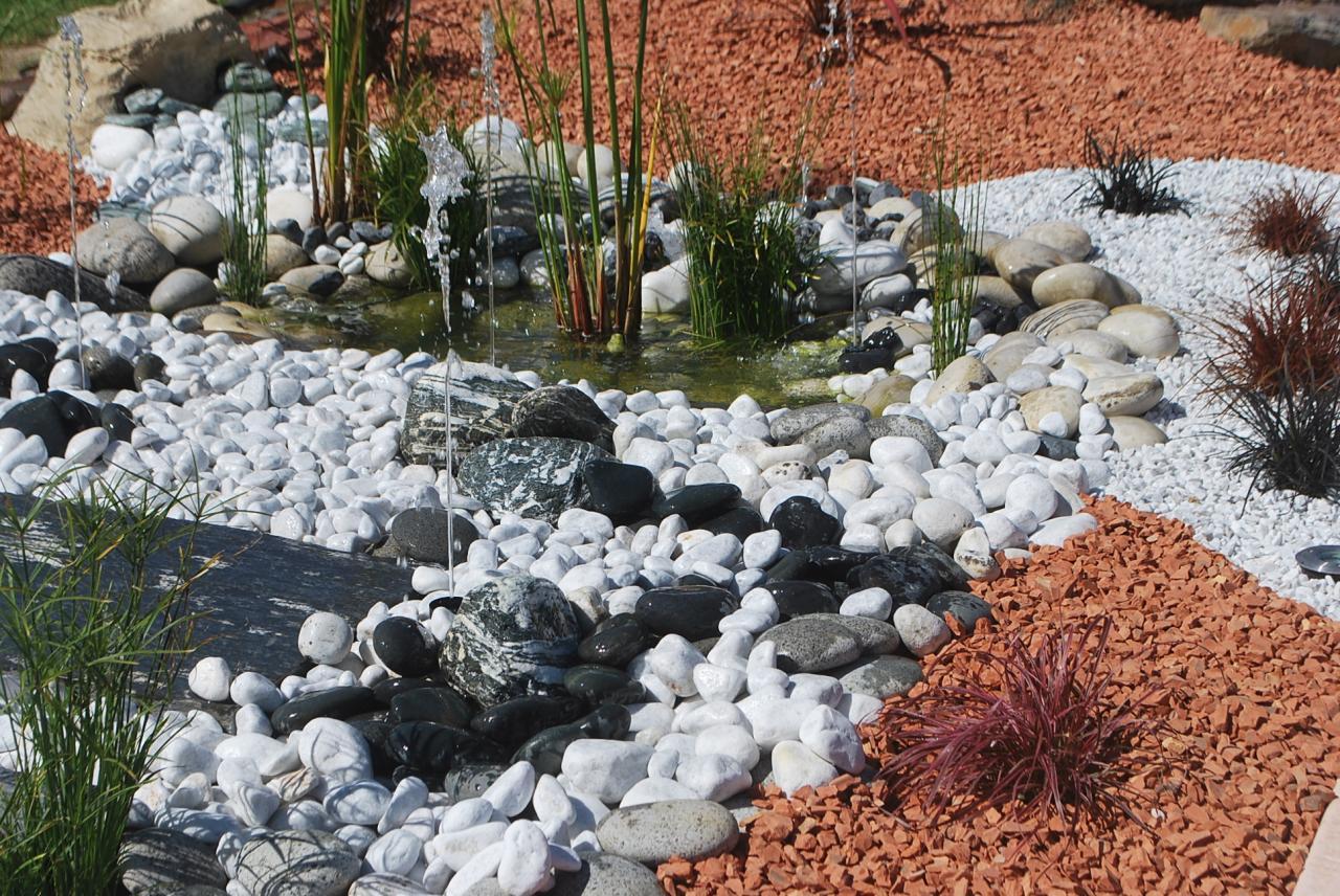 Galets, roches décoratives de jardin, jardin zen et minéral
