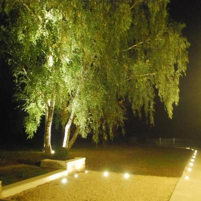 Éclairage et ambiance lumineuse au jardin