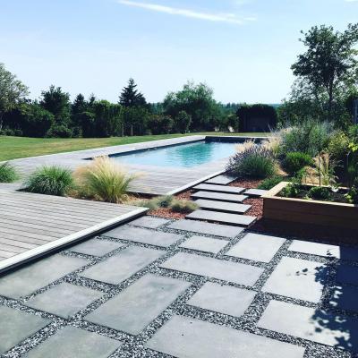 aménagement plage de piscine paysagiste Liperi Auxerre Pourrain
