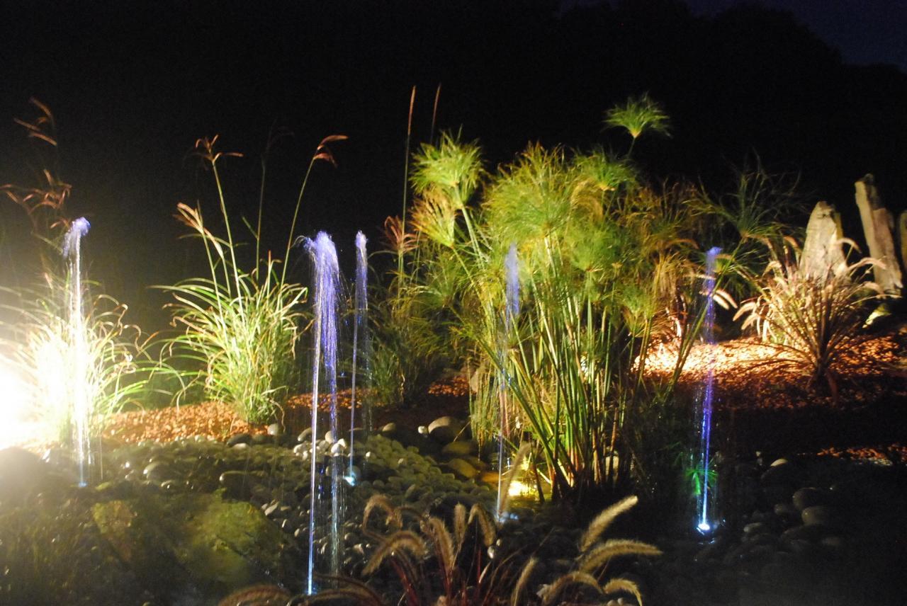 Création de fontaine et jeux de lumiére à Appoigny, Auxerre