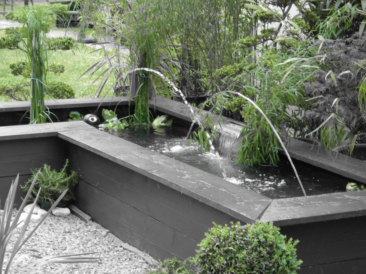 Fontaine dynamique pour jardin d'exposition à Auxerre