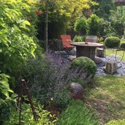 Jardin paysagé à Auxerre dans l'Yonne